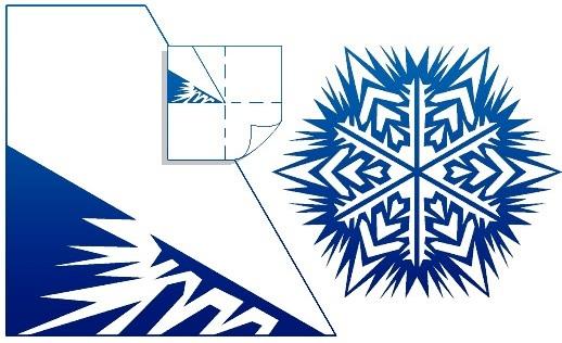 снежинка шестигранная